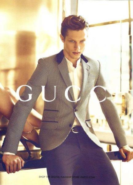 Kampania Gucci na sezon wiosna lato 2012 z udziałem polskiego modela Grega Nawrata oraz Karmen Pedaru i Abbey Lee Kershaw