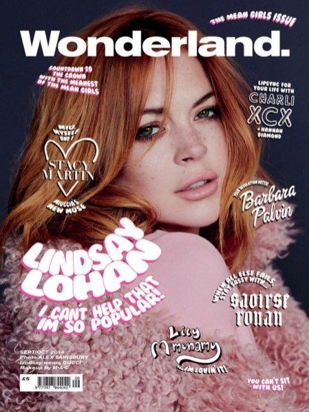Lindsay Lohan na okładce Wonderland, wrzesień/październik 2014