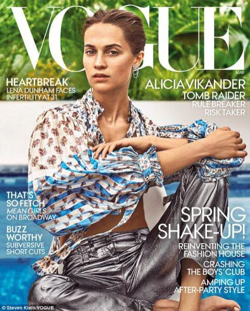Alicia Vikander na okładce amerykańskiego Vogue'a