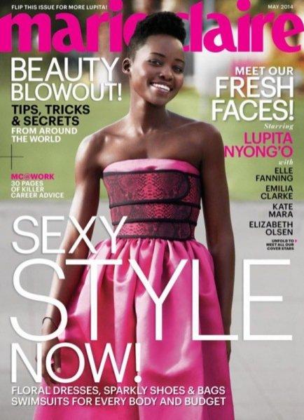 1. Lupita Nyong'o, Marie Claire Maj 2014