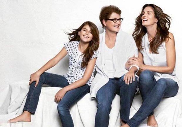 Cindy Crawford wraz z córką i mamą w kampanii marki JCPenny z okazji Dnia Matki