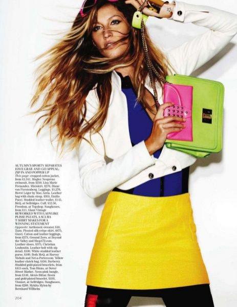 Gisele Bündchen w Vogue UK Grudzień 2011