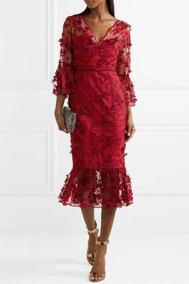 Sukienka z falbaną, Marchesa Notte/Net-a-Porter, 795 usd