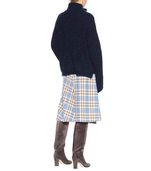Granatowy sweter z alpaki, 81 Hours, 229 euro