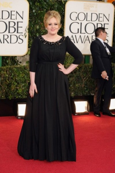 Adele w kreacji Burberry