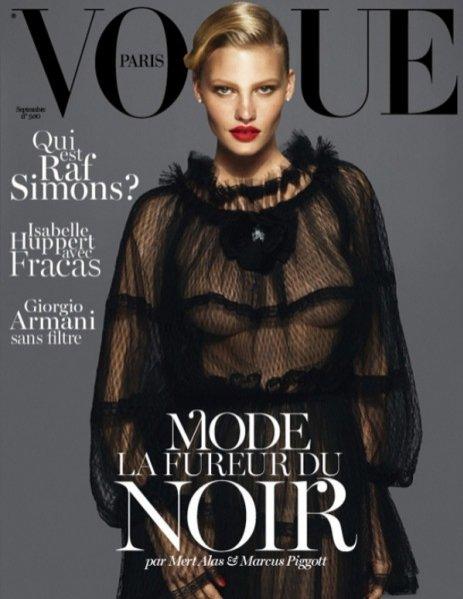 Lara Stone na okładce Vogue Paris