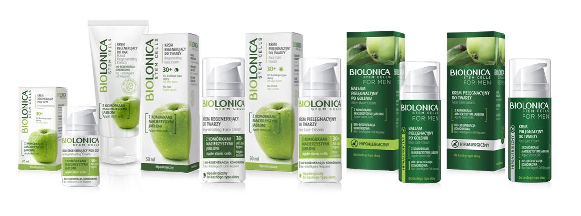 BIOLONICA - kosmetyki z komórkami macierzystymi z jabłoni