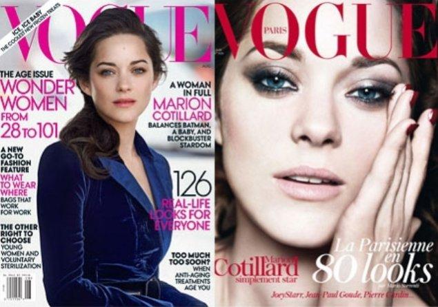 Marion Cotillard na okładkach sierpniowego Vogue US i Vogue Paris
