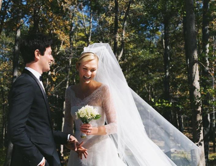 Suknia ślubna Karlie Kloss - marki Dior