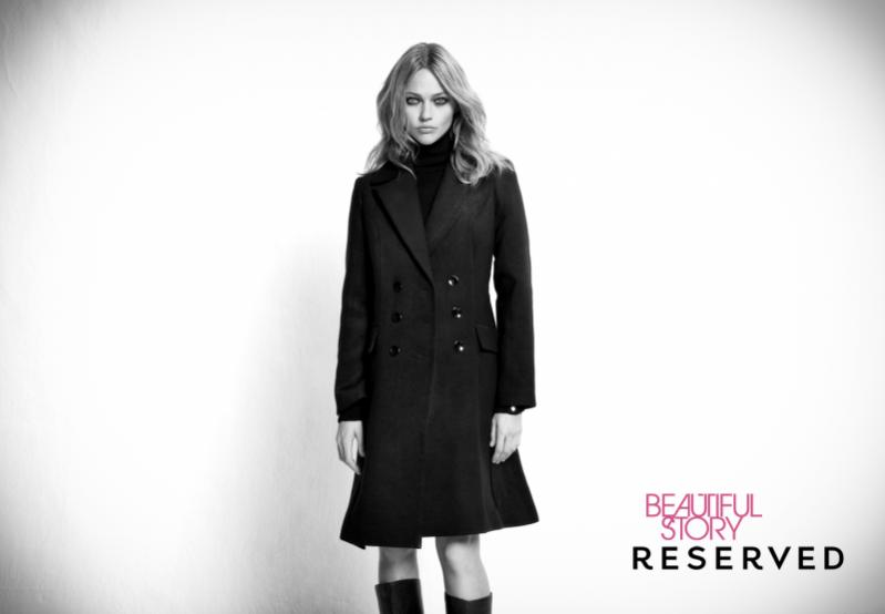 Sasha Pivovarova w kampanii na jesień zima 2011 marki Reserved