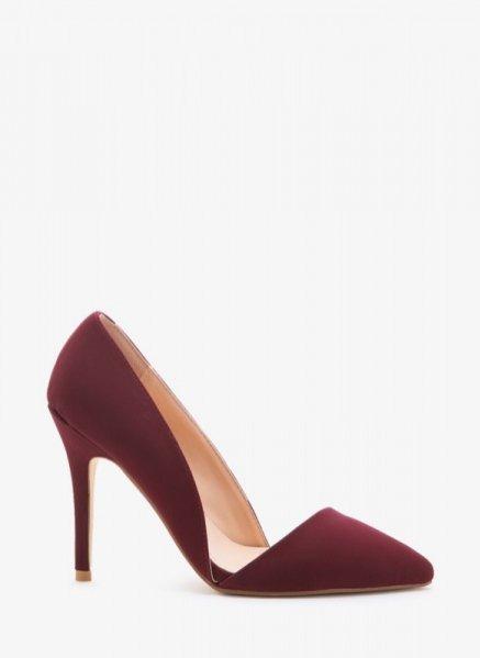 1. Szpilki Asymetryczne Bordo Velvet High Heels, DeeZee - 129 pln