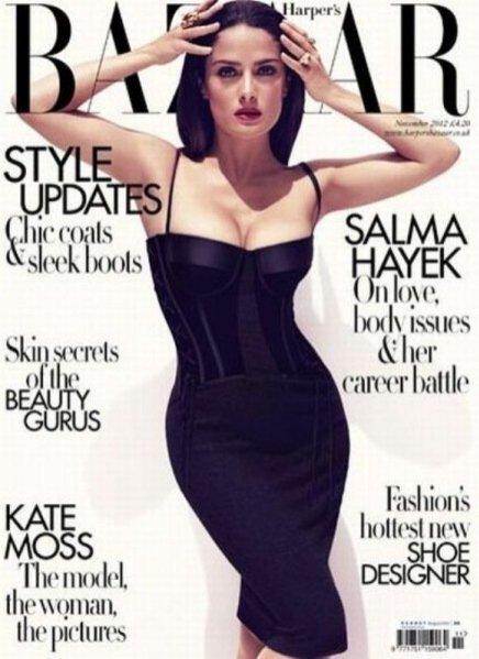 Salma Hayek w sesji dla Harper's Bazaar