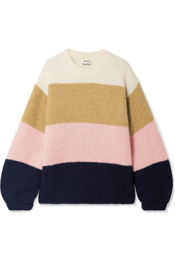 Sweter w kolorowe pasy, Acne Studios, 350 funtów