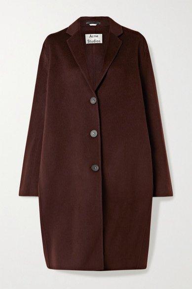 Brunatny płaszcz, Acne Studios/Net-a-Porter, 850 funtów