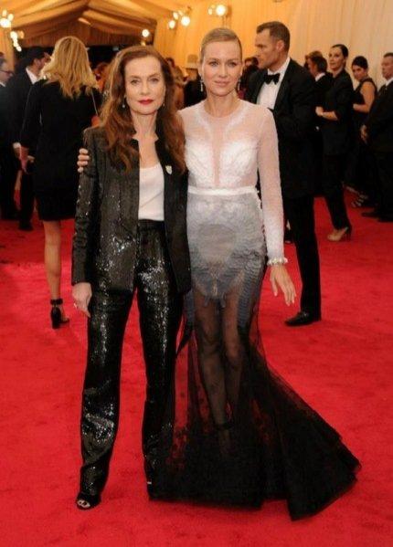 Isabelle Huppert i Naomi Watts w Givenchy na Met Ball 2014