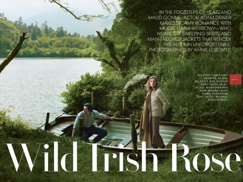 Adam Driver i Daria Werbowy dla Vogue US, wrzesień 2013