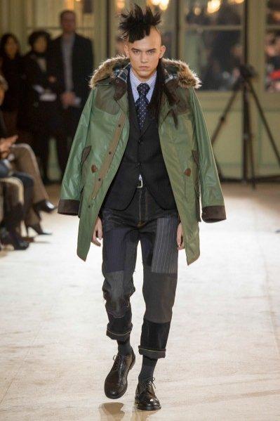 1. Adam Kaszewski w pokazie Junya Watanabe Menswear jesień zima 2014-2015 Paris Fashion Week