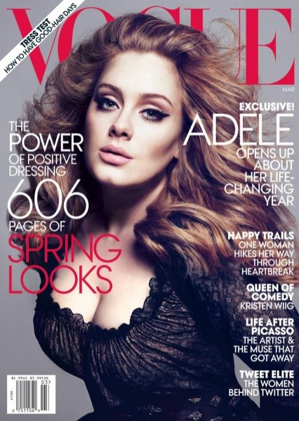 Adele w sesji dla Vogue UK Marzec 2012