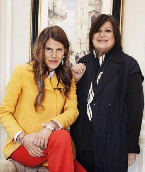 Anna Dello Russo i Margareta van den Bosch z H&M
