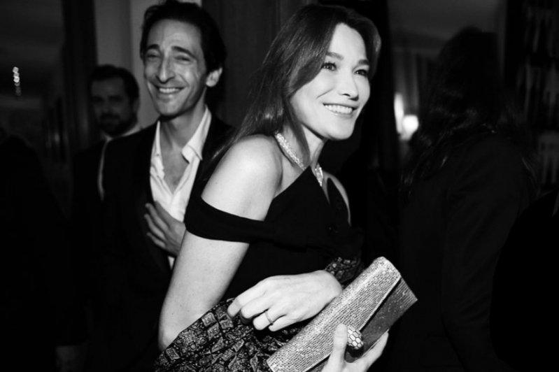 Adrien Brody i Carla Bruni-Sarkozy