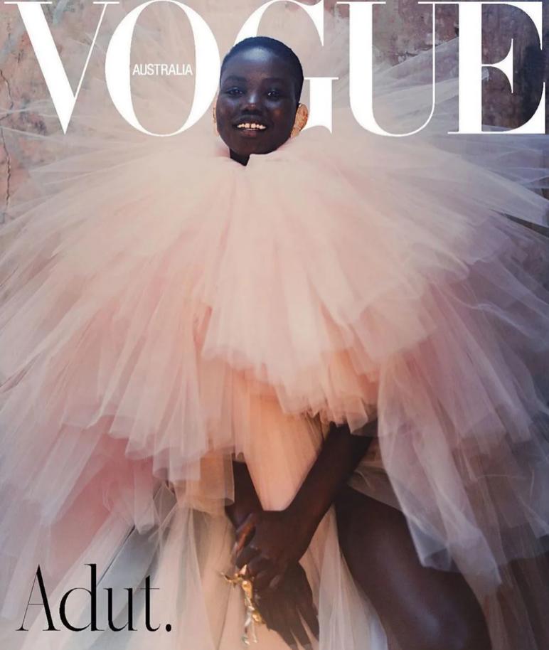 Adut Akech - Vogue Australia, wrzesień 2019