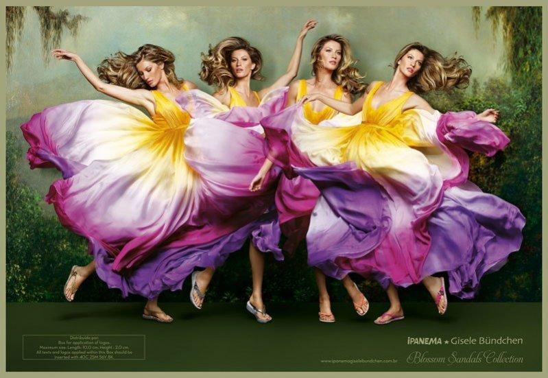 Gisele Bündchen w kampanii reklamowej Ipanema Flowers wiosna lato 2012