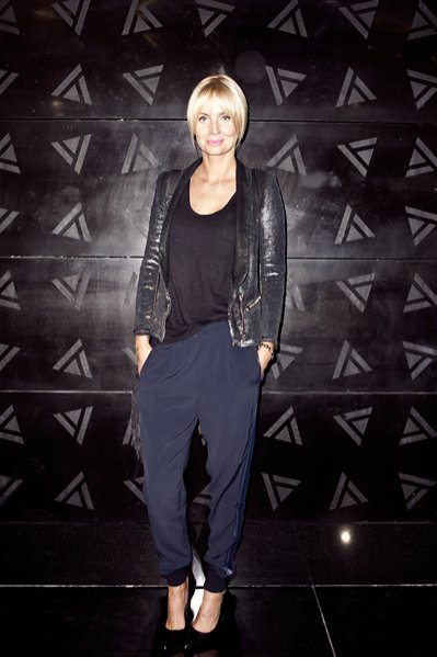 Agnieszka Szulim na pokazie Joanny Klimas wiosna lato 2014