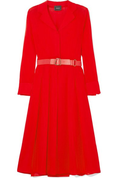Czerwona sukienka z podkreśloną talią, Akris/Harrods, 2400 pln