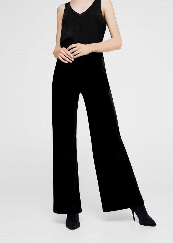 Szerokie spodnie z aksamitu, Mango, 119 pln