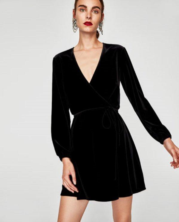 Aksamitna sukienka mini, Zara, 139 pln