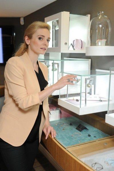 Aleksandra Mikołajczyk na prezentacji kolekcji Reflets marki Lilou