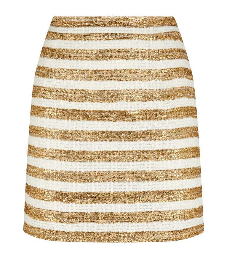 Mini spódnica w poziome paski, Alessandra Rich/Harrods, 2300 pln