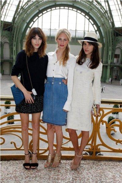 Alexa Chung, Poppy Delevingne, Caroline Sieber