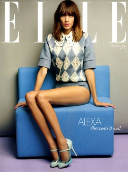 Alexa Chung w sesji zdjęciowej w marcowym wydaniu Elle UK