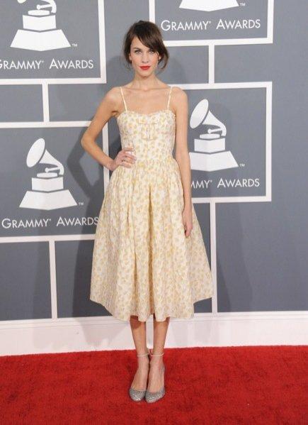 Alexa Chung na rozdaniu nagród Grammy 2013