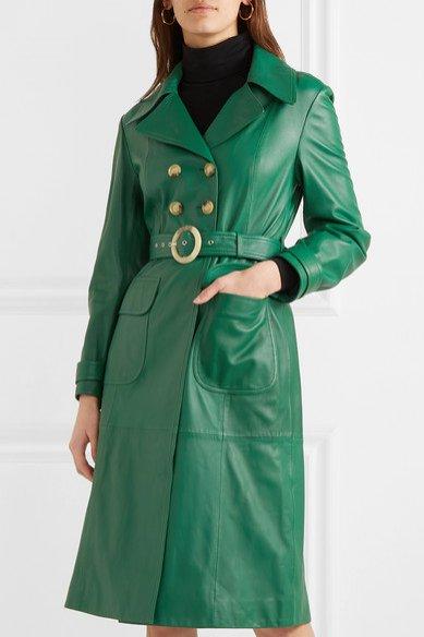 Zielony skórzany płaszcz, Alexachung/Net-a-Porter, 1230 eur