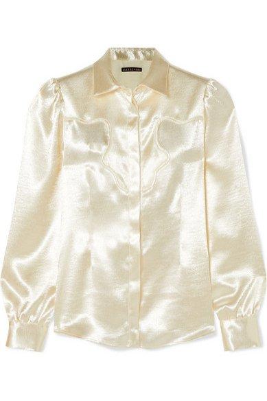 Kremowa koszula, Alexa Chung/Net-a-Porter, 285 eur (figura papryczki, klepsydry, gruszki i jabłka)
