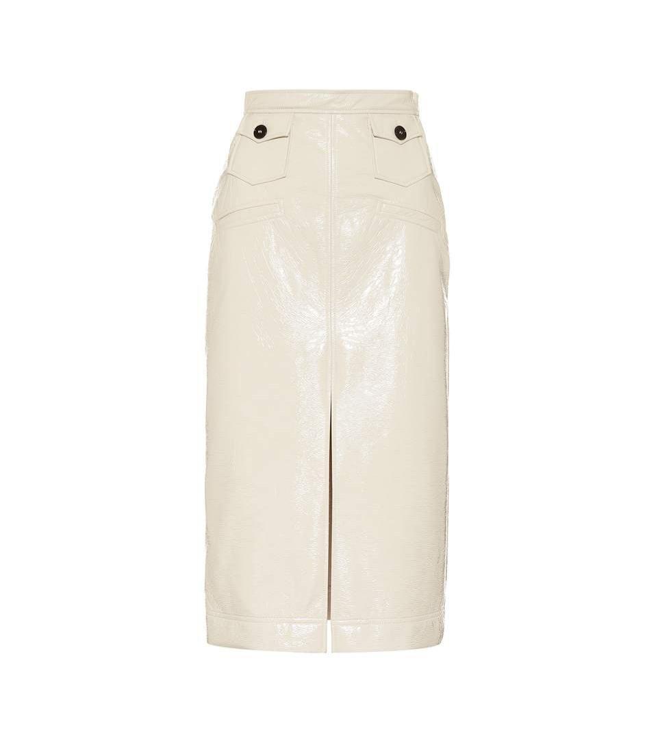 Lakierowana spódnica z rozcięciem, Alexa Chung/Mytheresa, 360 eur