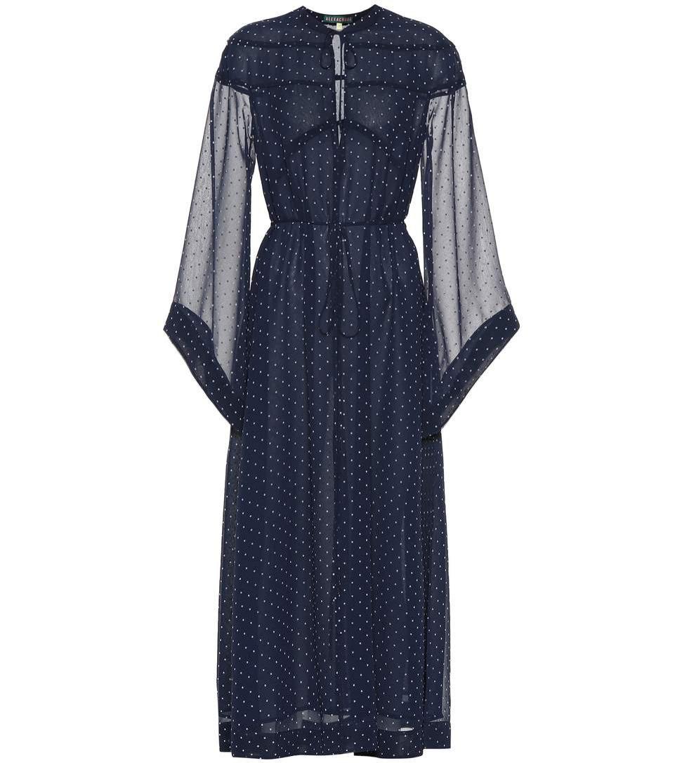 Sukienka w grochy z transparentnymi rękawami, Alexachung/Mytheresa, 630 eur