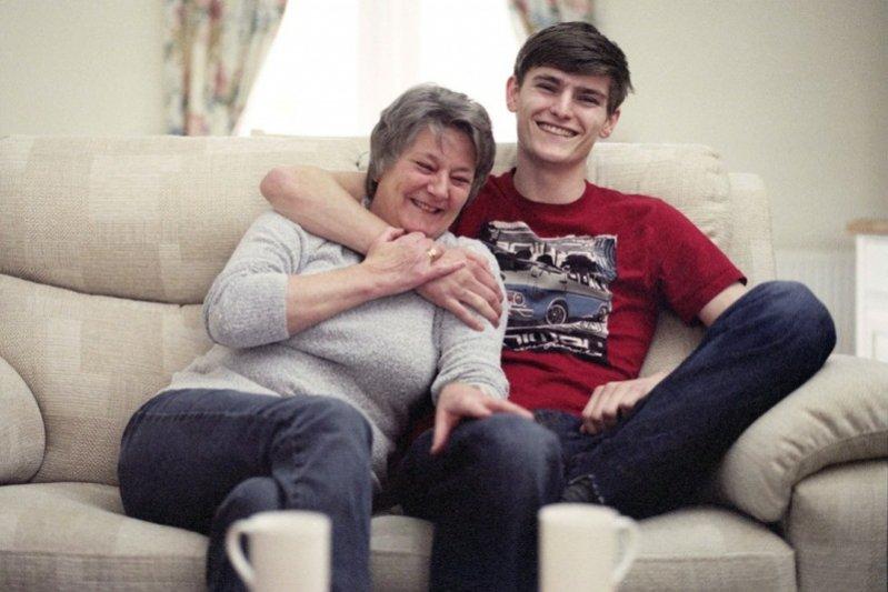 Alexander Beck i jego mama Sue Beck