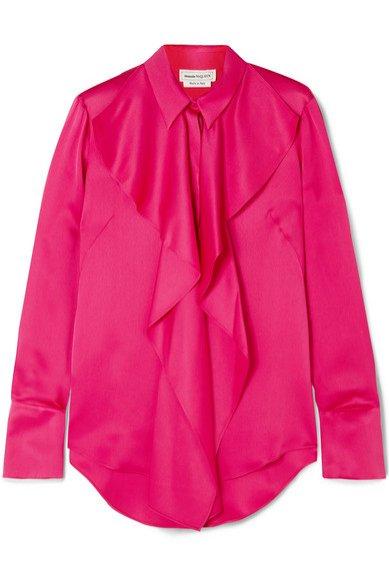 Koszula z wiązaniem, Alexander McQueen/Net-a-Porter, 1190 eur (figura gruszki)