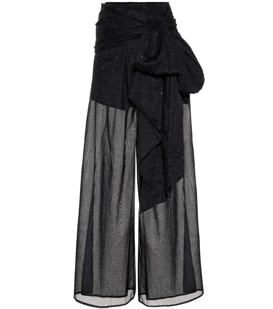 Szerokie spodnie z prześwitującej tkaniny, Alexander Vauthier/Mytheresa, 399 euro