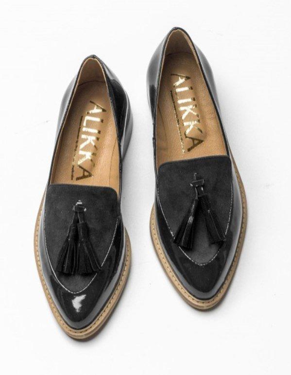 Skórzane loafery z chwostem, Alikka, 593 pln