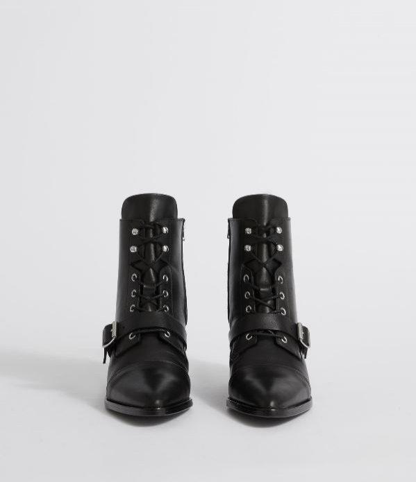 Czarne botki ze sznurowaniem, AllSaints, 288 euro