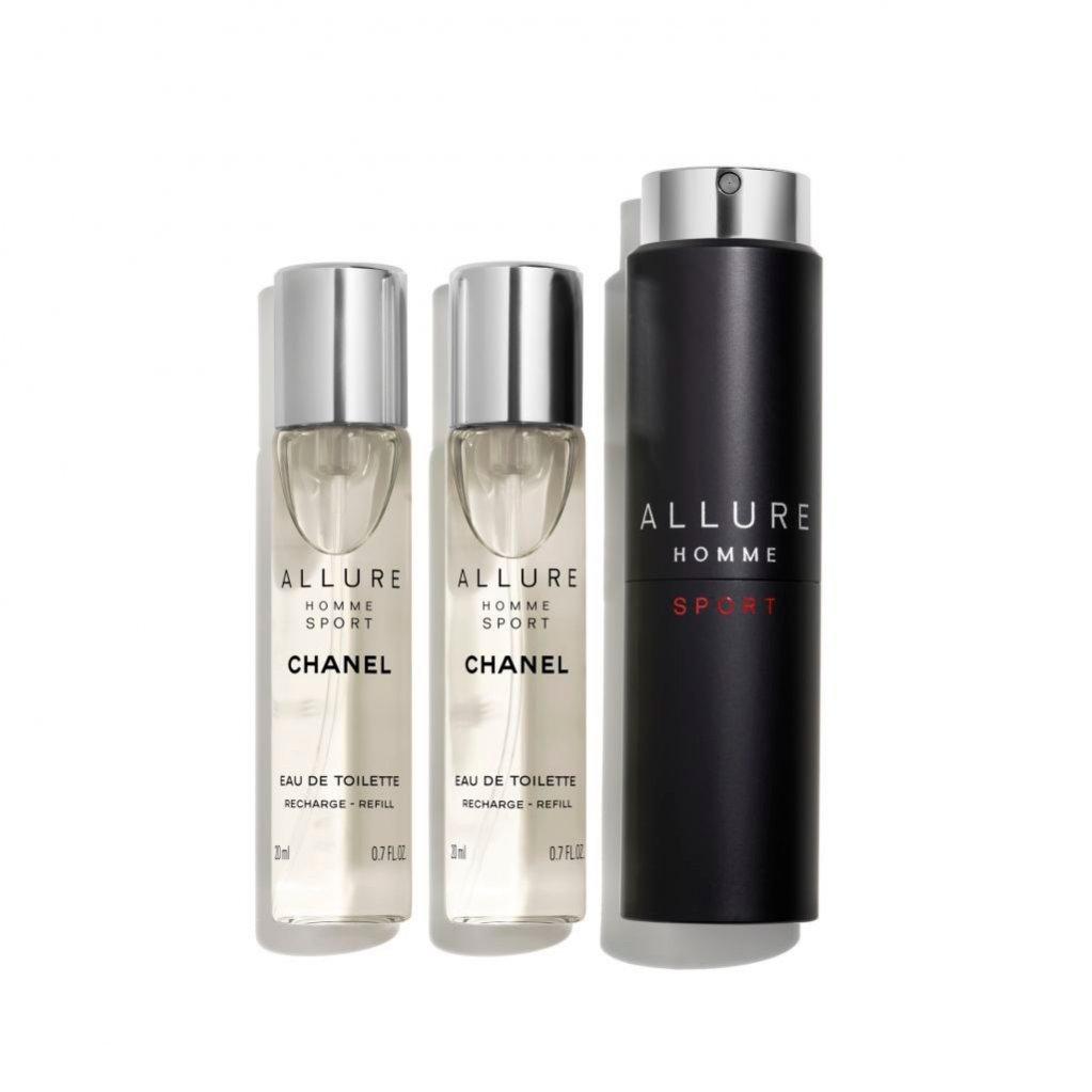 Podróżna woda toaletowa Chanel Allure Homme Sport, 3 x 20 ml, 64 funty