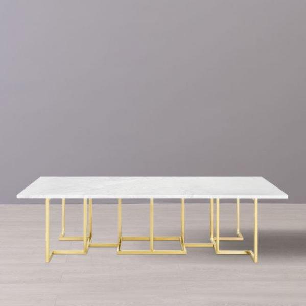 Duży stolik kawowy z marmurowym blatem, Almi Decor, 15 500 pln