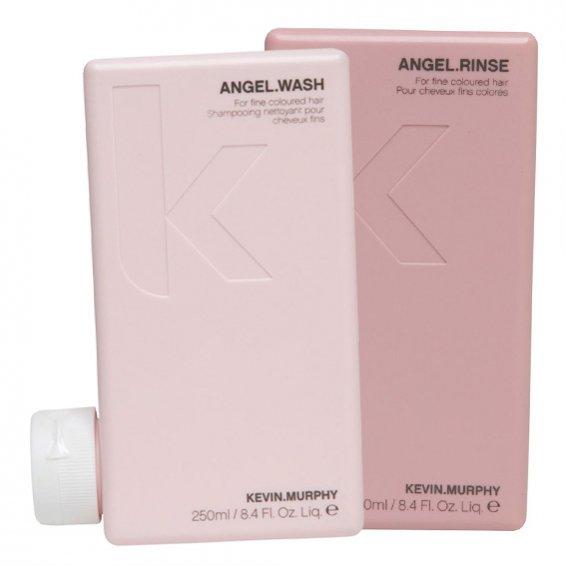 Kosmetyki do pielęgnacji włosów od marki KEVIN.MURPHY - Dodająca objętości seria do włosów cienkich i farbowanych - cena: ANGEL.WASH /ANGEL.RINSE -95 zł