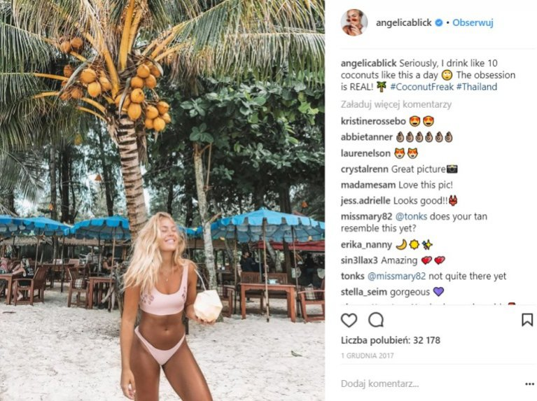 Szwedzkie it girls - Angelica Blick (1,2 mln obserwatorów)
