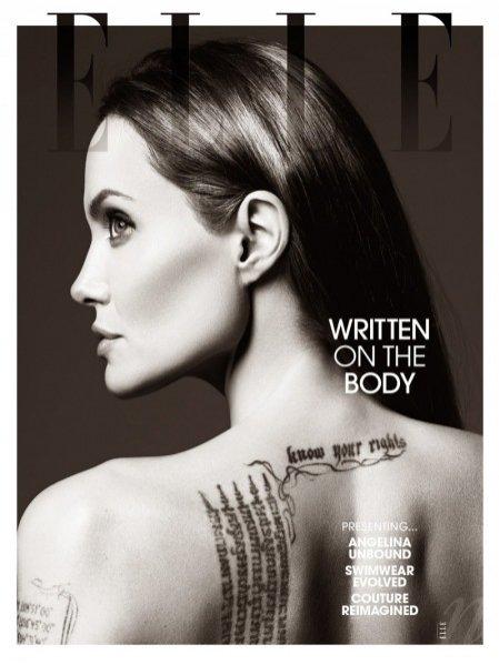 1. Angelina Jolie w sesji dla czerwcowego Elle US