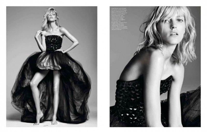 Anja Rubik we wrześniowym Vogue Paris